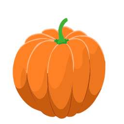 Orange pumpkin squash isometric