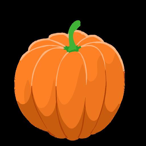Calabaza naranja isométrica