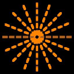 Fuegos artificiales de líneas finas naranjas provocan trazo