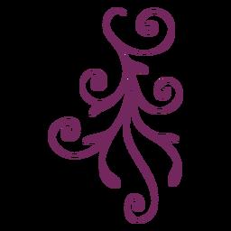 Trazo de ornamento floral remolino
