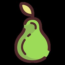 Pear icon stroke