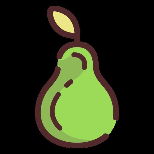 Trazo de icono de pera Transparent PNG