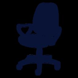 Silhueta de cadeira de escritório petite