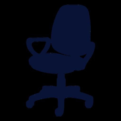 Silueta de silla de oficina pequeña Transparent PNG