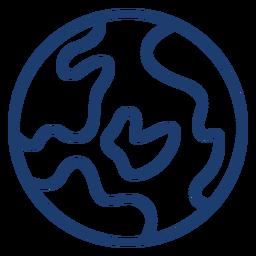 Curso de terra do planeta