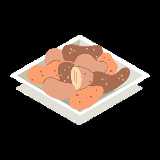 Plate of potatoes isometric