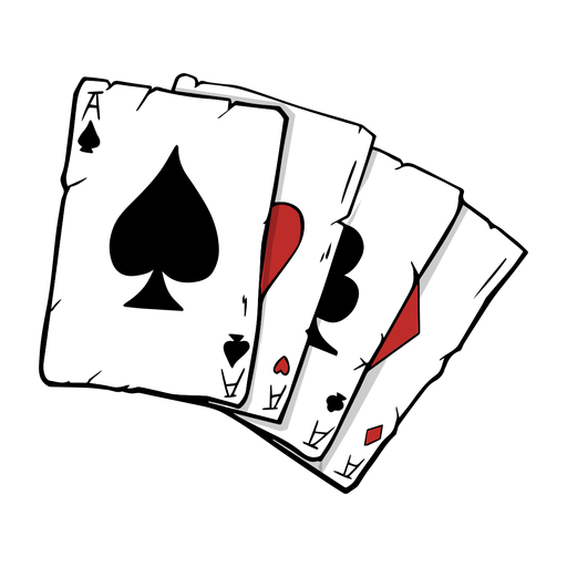 Poker cards four aces illustration