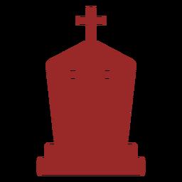 Rip cross gravestone silhouette