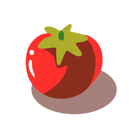 Tomate rojo isométrico
