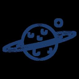 Saturn planet stroke