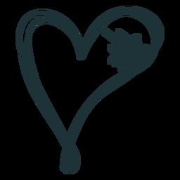 Doodle de corazón cosido