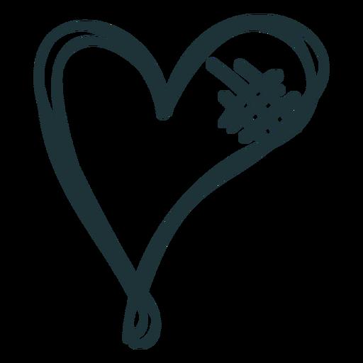 Sewed up heart doodle Transparent PNG