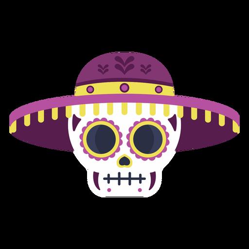 Skull calavera colorful flat