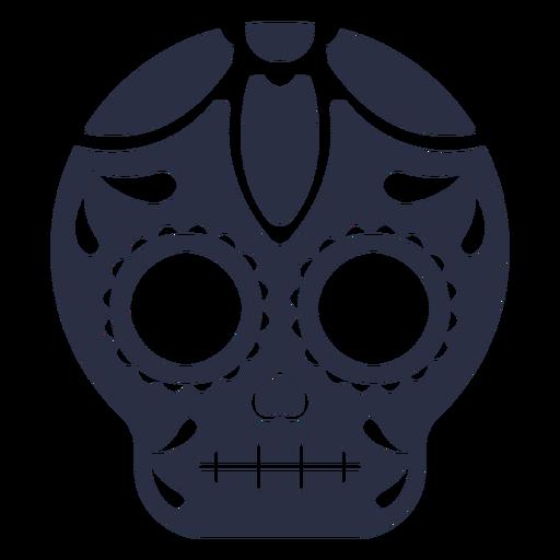 Skull calavera decorated Transparent PNG