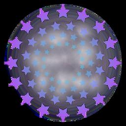 Fuegos artificiales degradado de estrellas