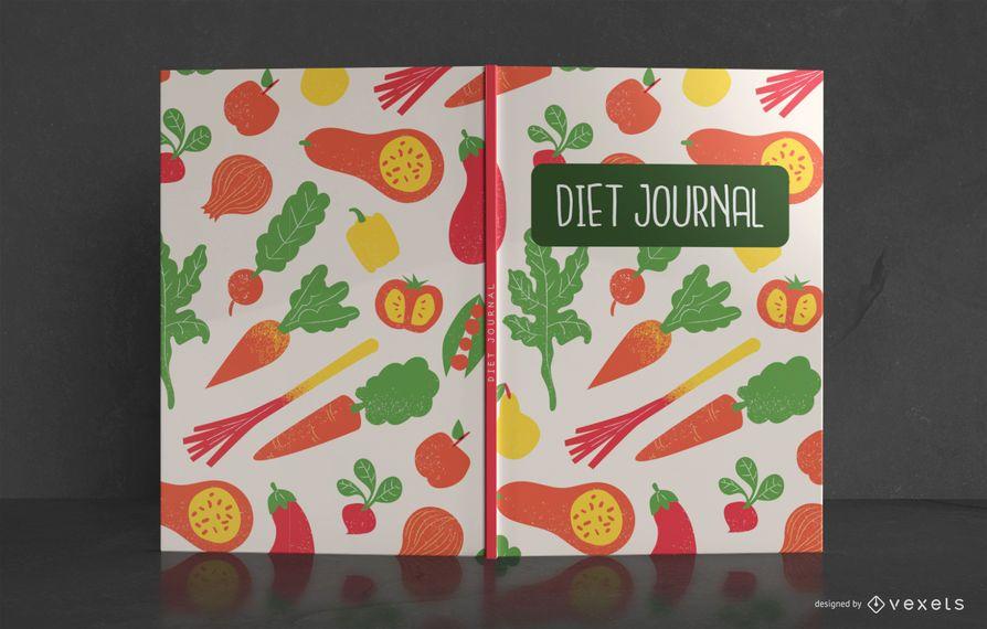 Design de capa de livro de diário de dieta