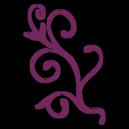 Adorno de trazo floral remolino