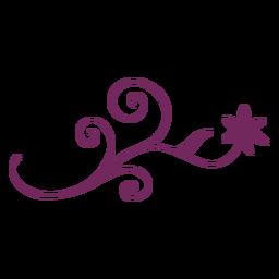 Ornamento de traçado rodando floral