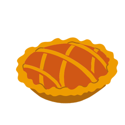 Sweet pie illustration