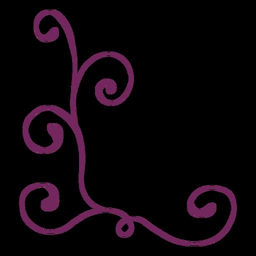 Trazo de adorno floral remolino