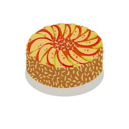 Tasty fruit cake isometric