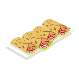 Sabroso taco foodie isométrico