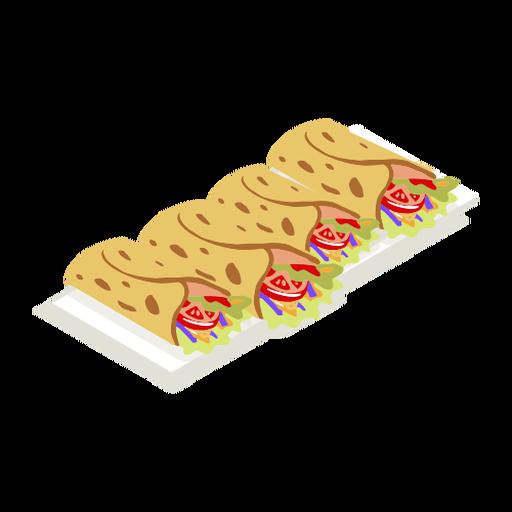 Tasty taco foodie isometric