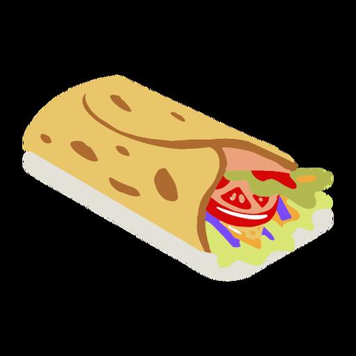 Tasty vegetable tortilla isometric