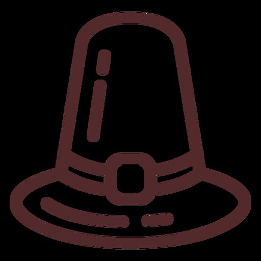 Thanksgiving hat stroke Transparent PNG