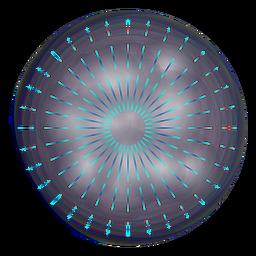 Thin sparks gradient 3 ring firework