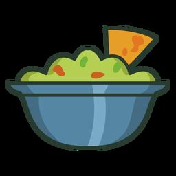 Tortilla Chips Salsa bunten Symbol Strich