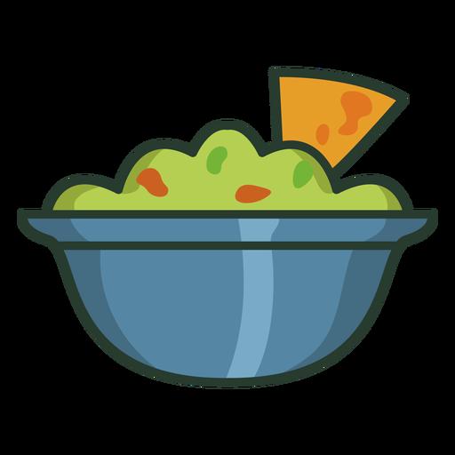 Tortilla chips guacamole icon stroke