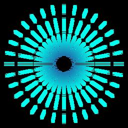 Curso fino de fogo de artifício gradiente turquesa