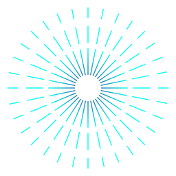 Turquoise gradient firework thin stroke