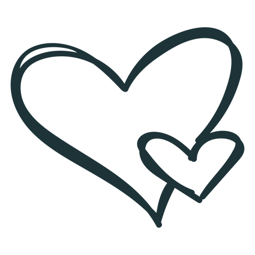 Golpe de amor floreciente de dos corazones Transparent PNG