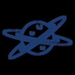 Curso de planeta de dois anéis