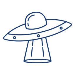 Curso de nave espacial de OVNI