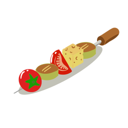 Espeto de legumes saudável isométrico