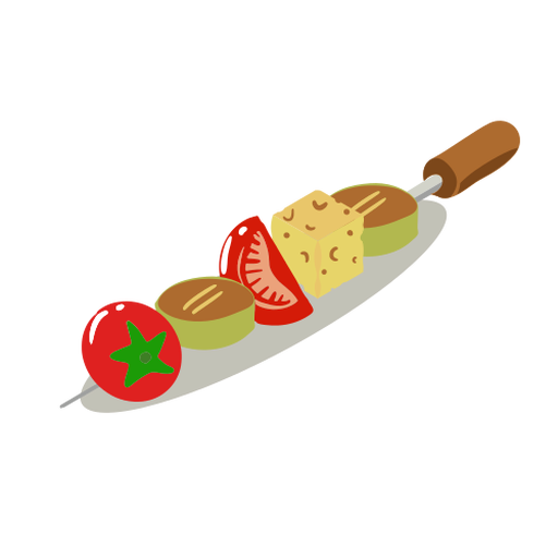Vegetable skewer healthy isometric Transparent PNG