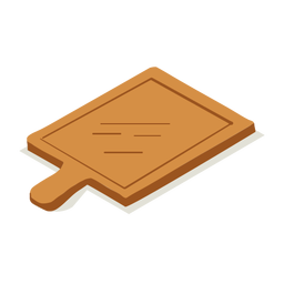 Woodwork cutting board isometric
