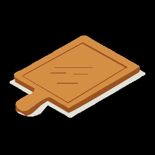 Woodwork cutting board isometric