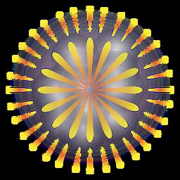 Fogo de artifício amarelo anel gradiente 2