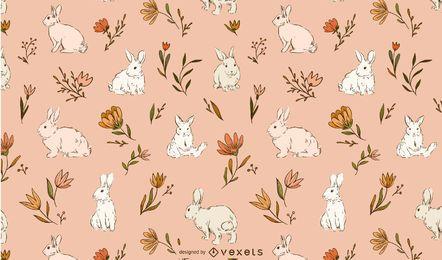 Ostern Kaninchen Musterentwurf