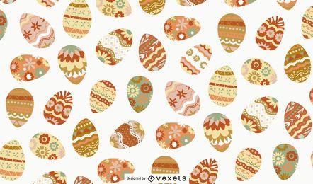 Desenho de ovos com decoração de Páscoa