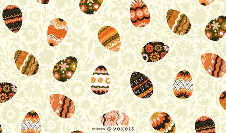 Design de padrão de ovos de Páscoa