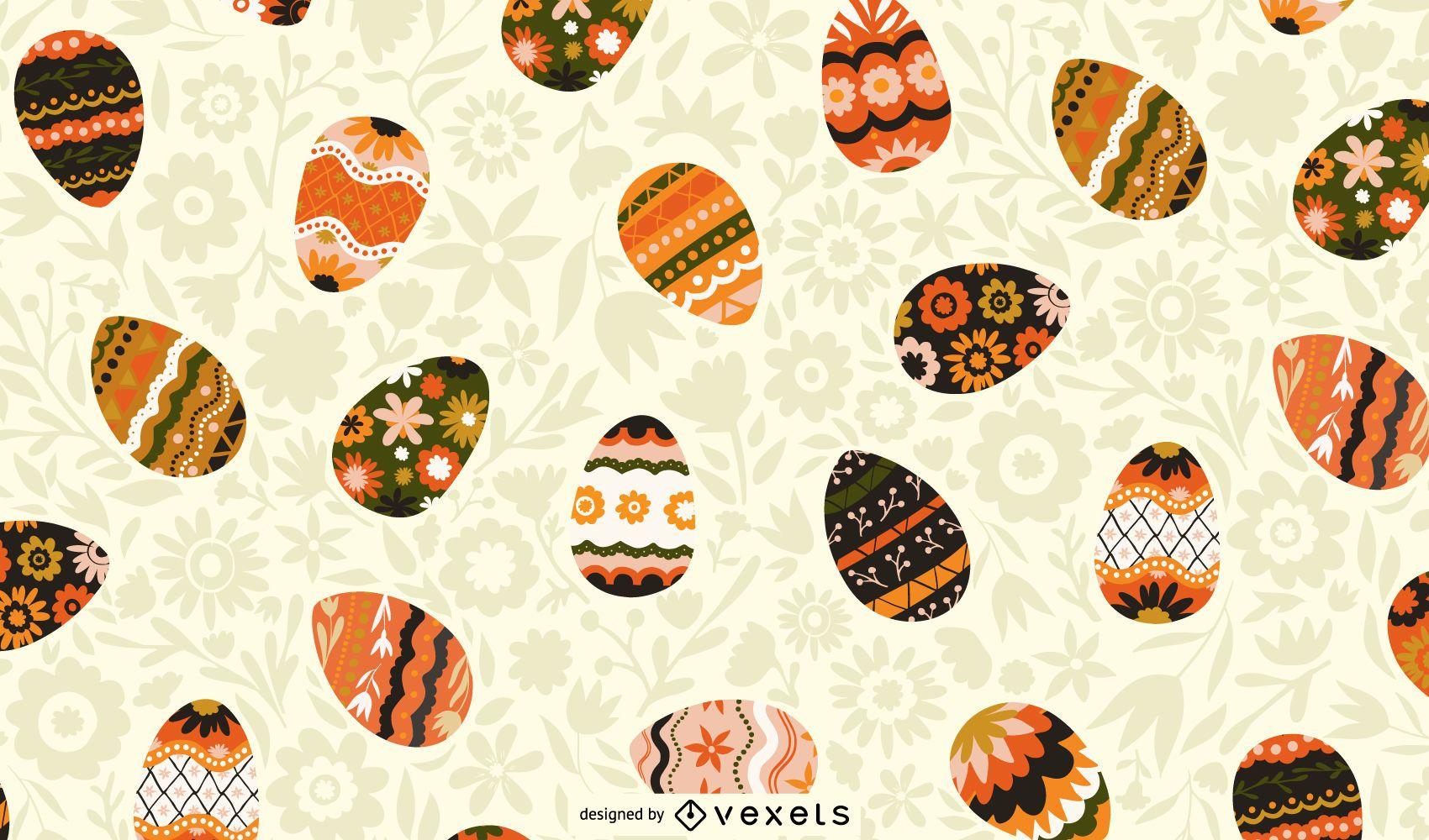 Diseño de patrón de huevos de Pascua