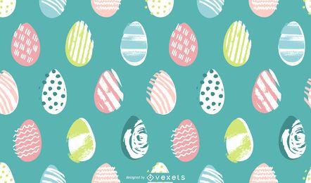 Design de padrão pastel de ovos de Páscoa