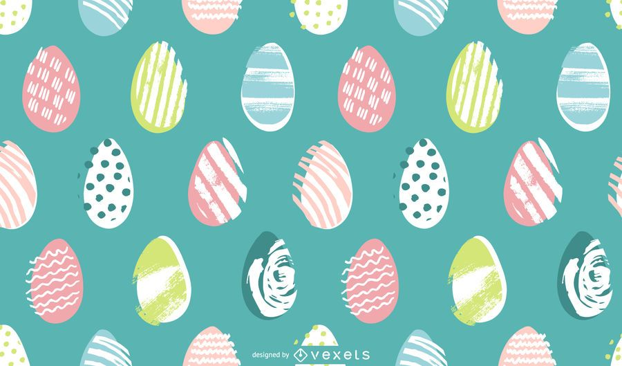 Easter eggs pastel pattern design