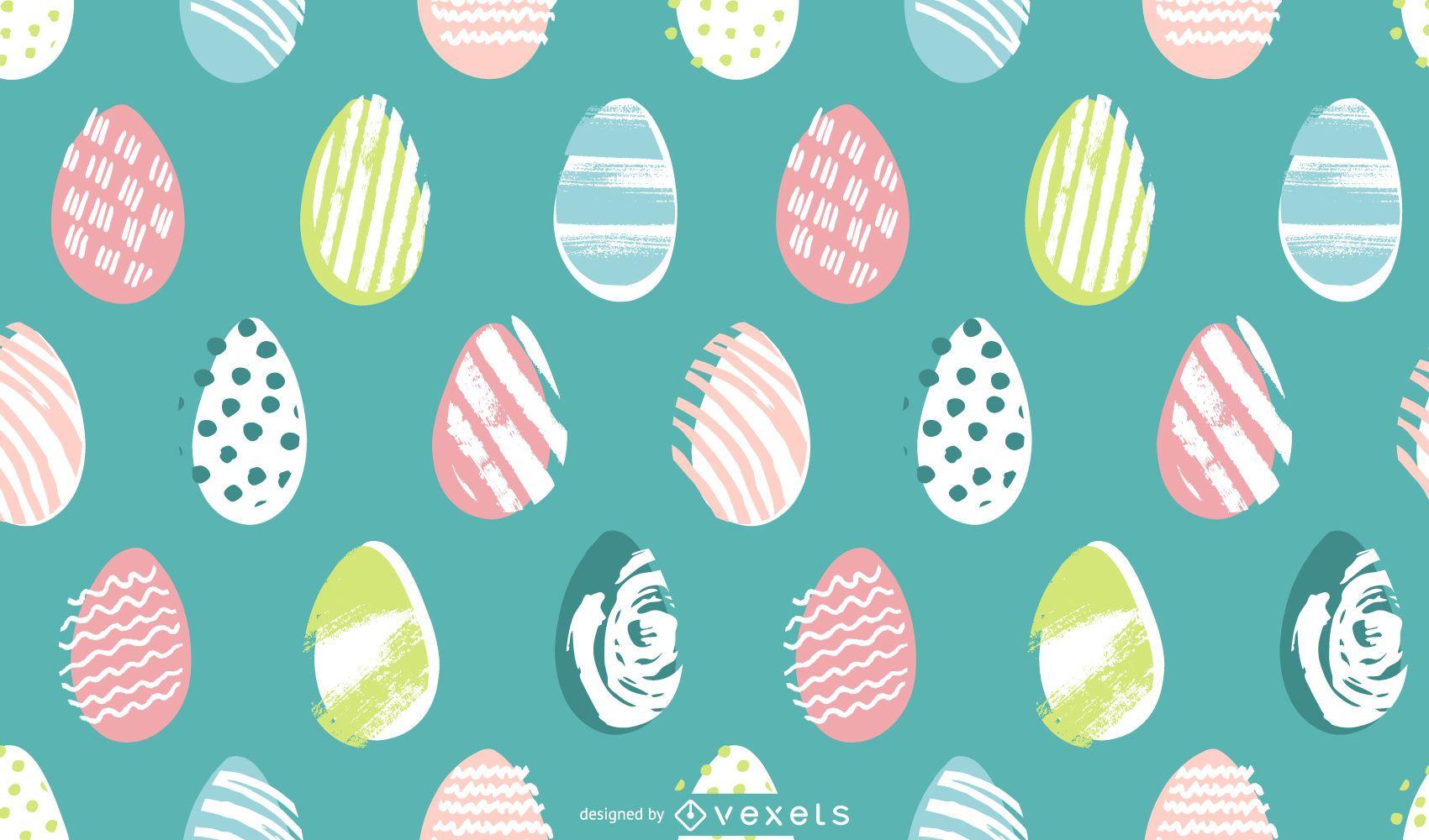 Diseño de patrón pastel de huevos de Pascua