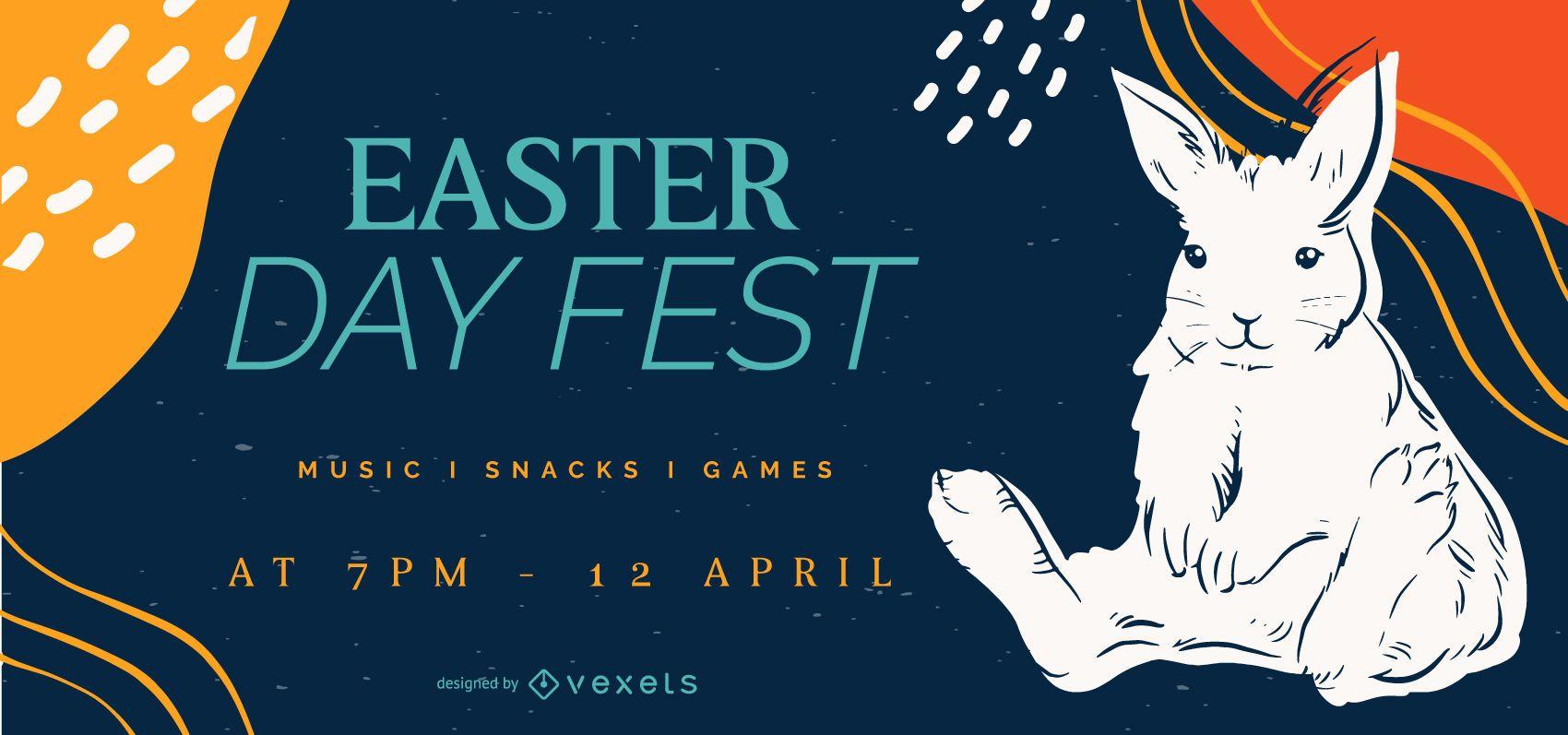 Easter rabbit slider template
